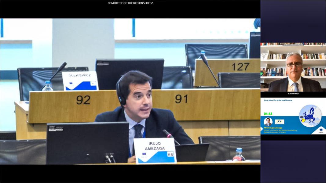 Mikel Irujo, rapportör för social ekonomi i EU:s regionkommitté.