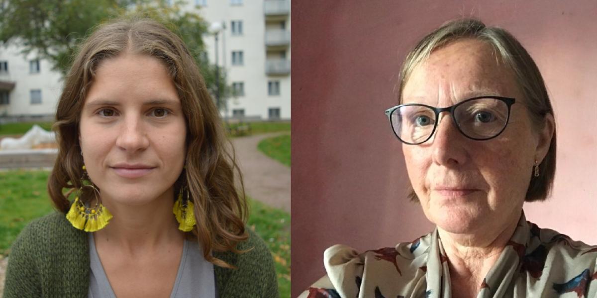 Sara Malm och Gerd Holmgren (Fi).