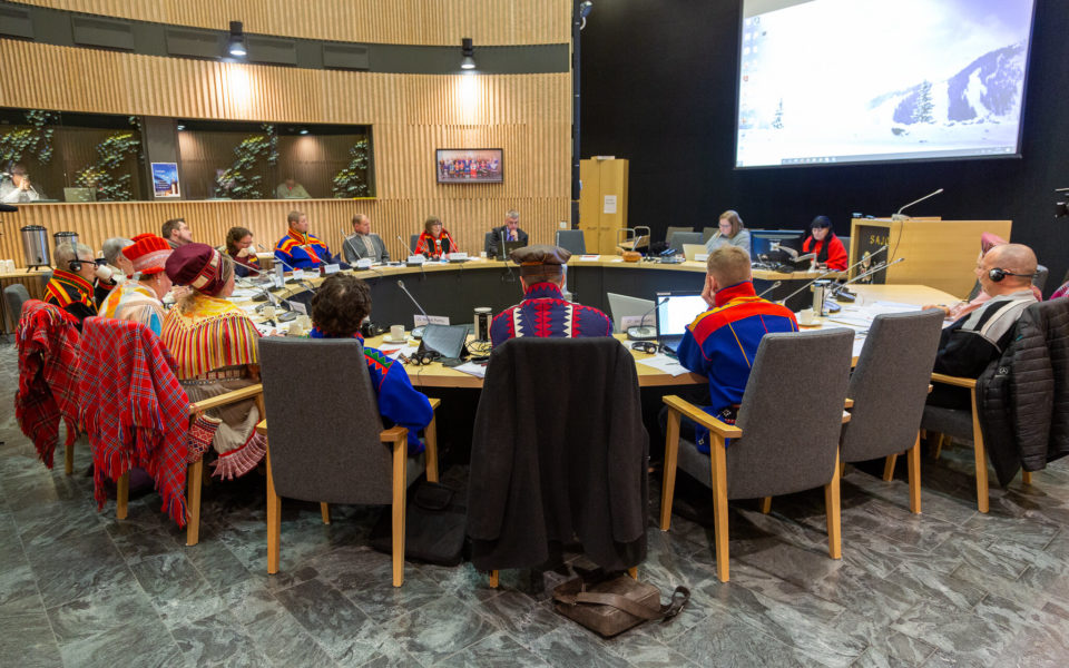 Möte i finska sametinget, december 2019.